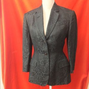 Jean Paul Gaultier Fitted Blazer Black Damask 40